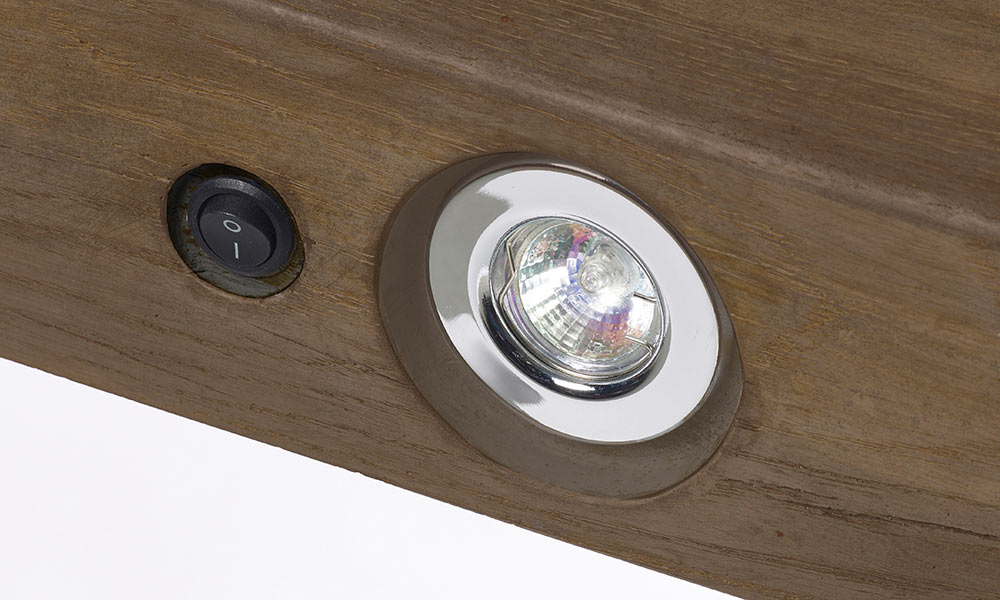 Rustic Dark Oak Geocast Beam Feature Lights