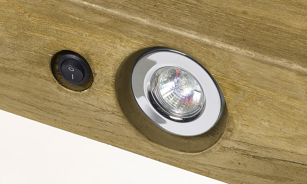 Rustic Light Oak Geocast Beam Feature Lights