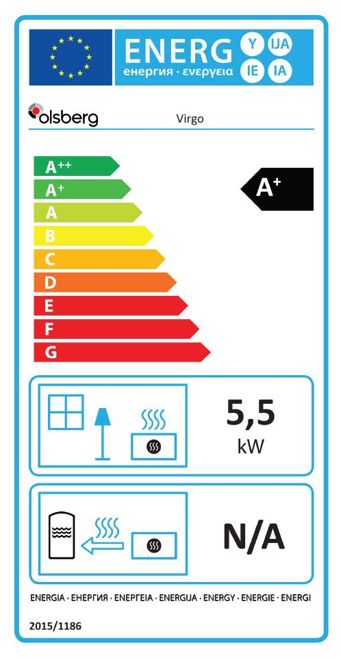 Olsberg Virgo Stove Energy Rating