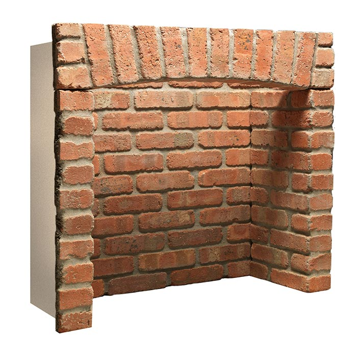 Rustic Brick Chamber With Front Returns and Arch. Also available without arch.