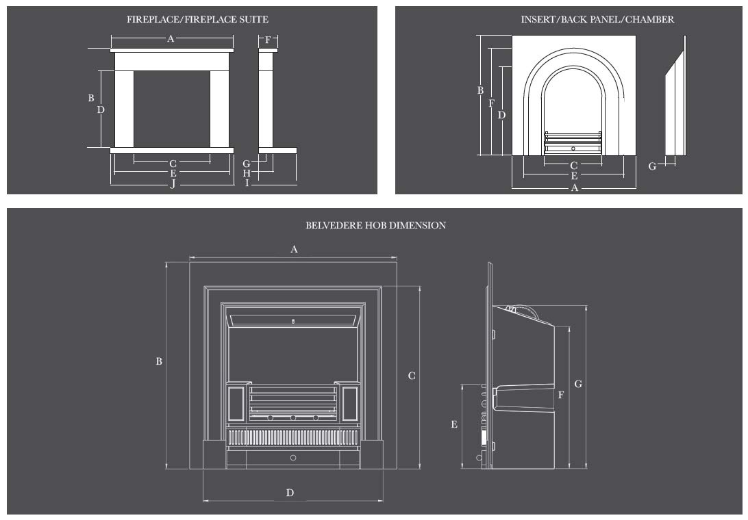 dimensions fireplace specs media loft