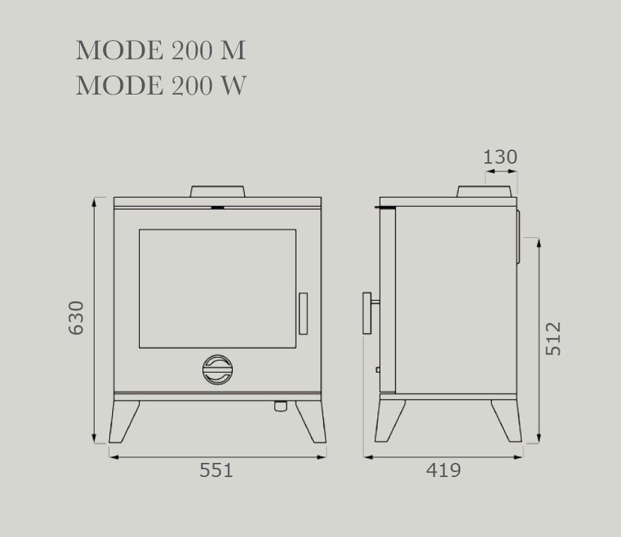 Mode 200 Dimensions