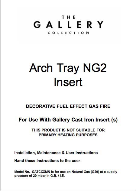 NG2 Class 1 Decorative Gas Fire Manual