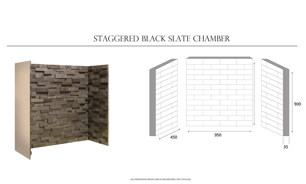 Staggered Black Slate Block Chamber