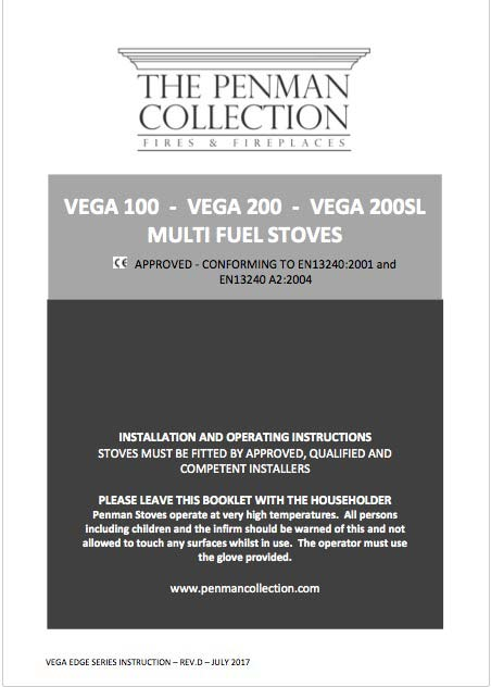 Vega 100 / 200 / 200SL Stove Manual