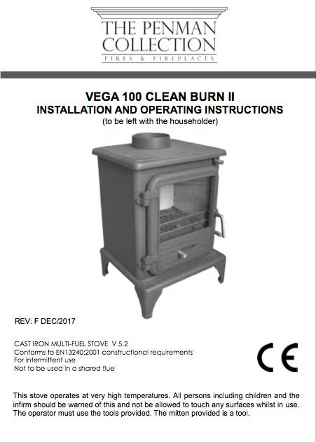 Vega 100 Clean Burn II Manual