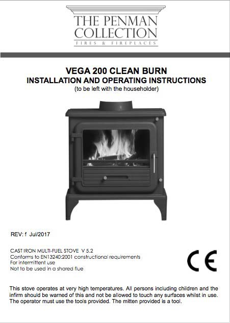 Vega 200 Clean Burn II Manual