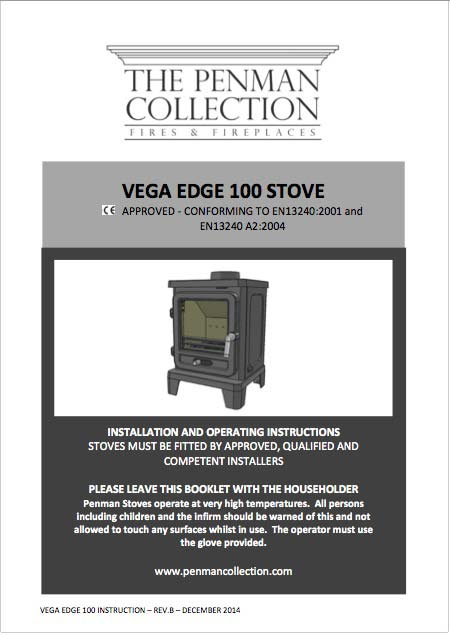 Vega Edge 100 Stove Manual