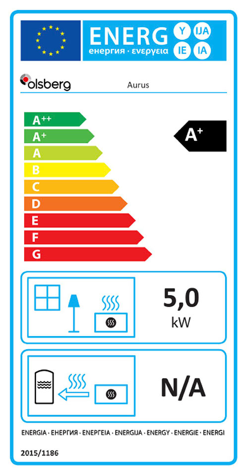 Aurus Stove Energy Label